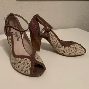Vintage style anthropology heels